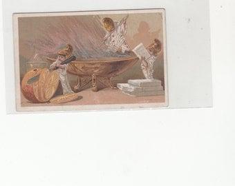 Milky Maid Condensed Milk Tradecard Fantasy Image Circa 1880s-1890's