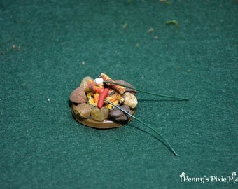 Miniature Campfire with Marshmallow and Hotdog Roasting Sticks