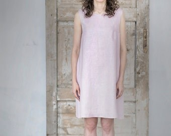 Washed soft Linen Tunica. Linen dress. Linen top. Women's dress.