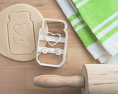 Mason Jar Cookie Cutter - Personalized Mason Jar - Cookie Cutter - Custom Cookie Cutter - Mason Jar Gift Ideas - Best Engagement Gift