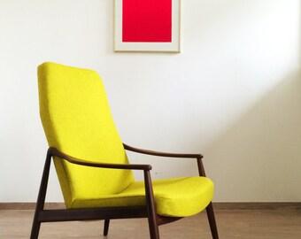High back Easy chair Hartmut Lohmeyer Wilkhahn Teak 50er/60er vintage