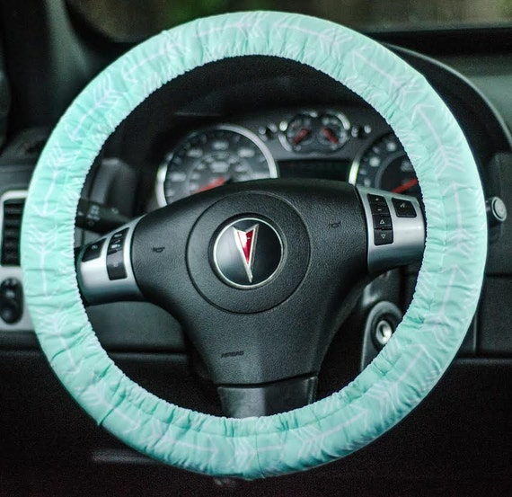 mint with white arrows steering wheel cover car accessory