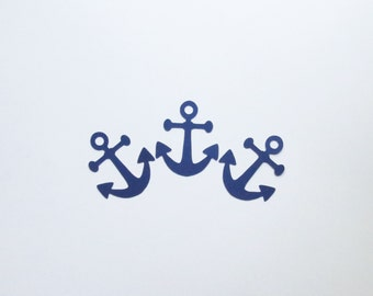 "Navy Blue Anchor Die Cuts - 1-3"" Inch Diecuts Choose Your Color/Colors Scrapbooking Stationery Cards Nautical Ocean Sea Sailor Decorations"
