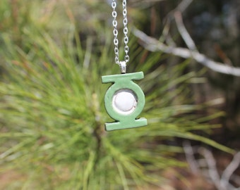 Green Lantern Ceramic Necklace