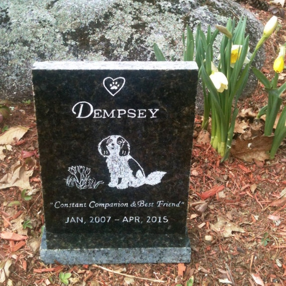 Pet Memorial Stone / Pet Grave Marker Dog by ...
