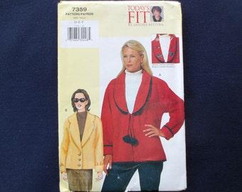 Loose-Fitting Jacket Uncut Pattern, Today's Fit 5786 by Sandra Betzina, Vogue Pattern, Size D, E, F, Bust 38, 40 1/2, 43