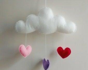 Love Cloud Mobile 'DOCE' | Nursery Decor | Baby | Kids | It's Raining Love!