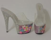 Candy Girl Bling Platform Exotic Dancer High Heels