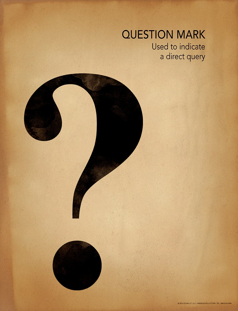 Question mark writing punctuation and grammar motivational