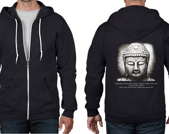 Buddha Vegetarian Quote Full Zip Hoodie