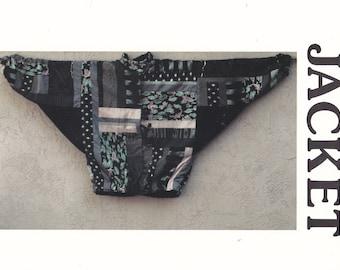 Patchwork Jacket Loose-Fitting Jacket Low Armholes Sally's Jacket Pattern Independent Designer Pattern