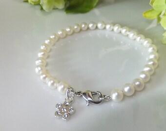 Natural pearl bracelet for kids