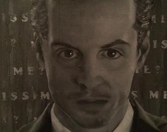 "OOAK ""Sherlock Holmes"" inspired ""Moriarty"" Oil Painting"