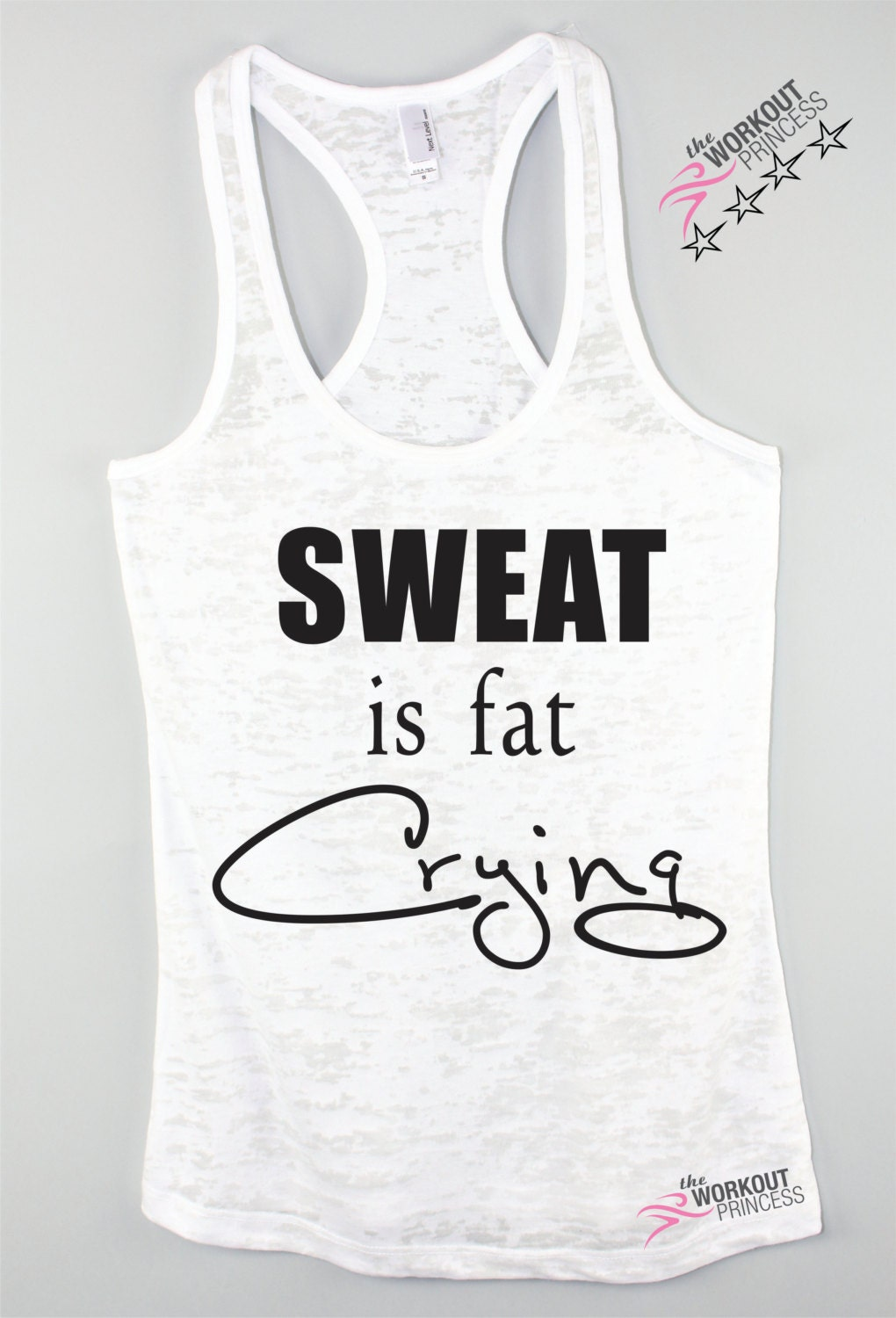 Gym Top Sweat Is Fat Crying Workout Tank Plus Size Workout