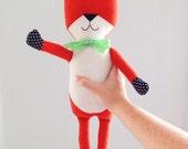 Fox animal toy | Plush Woodland plushie | Freddie the Fox | Unique boy's room toys children's play pretend stuffed fox stuffed animal fox