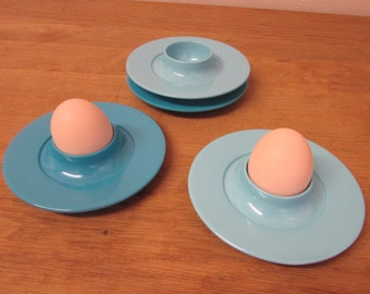 Set of four 1950s melamine ware egg cups