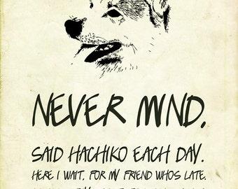 Typography -  Hachiko (quote)