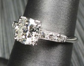 HOLD - Vintage Diamond Engagement Ring Antique Diamond Engagement Ring Diamond Platinum Engagement Ring Diamond Ring Platinum Diamond Ring