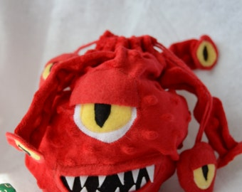 Beholder Dice Bag Dungeons and Dragons Plush dnd D20