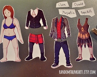 Clara Oswald (Doctor Who) Magnetic Paper Doll