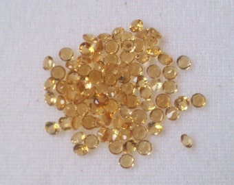 3 mm (20 pcs) Natural Golden CITRINE round Faceted  AAA Quality gemstone.....