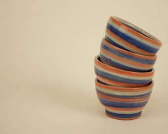 Striped Dipping Bowls