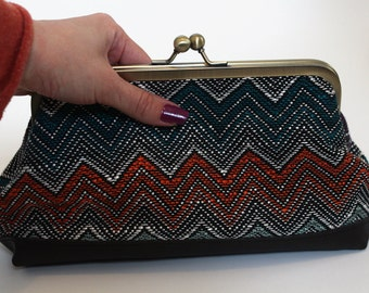 Colorful Evening Clutch, Colorful  evening bag, Women's bag, Colorful clutch bag, Evening clutch bag, Evening purse