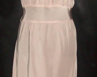 Vintage Flower Petal Pink Fancy Rayon Nightgown 36