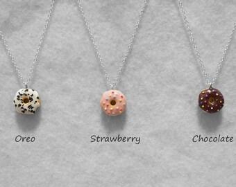 Donut Doughnut Necklace