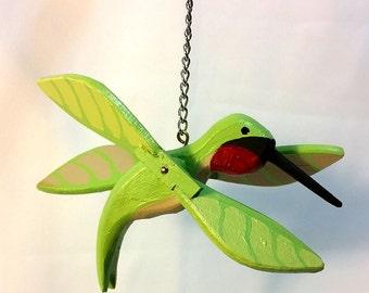 Wooden Hummingbird Whirligig for Home & Garden