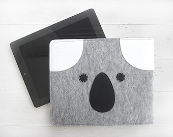 CHRISTMAS GIFT, EXPRESS Shiping, iPad Case, Koala, iPad Sleeve, iPad Cover, Tablet Case, Tablet Cover, Gift For Her, For Him, Technology