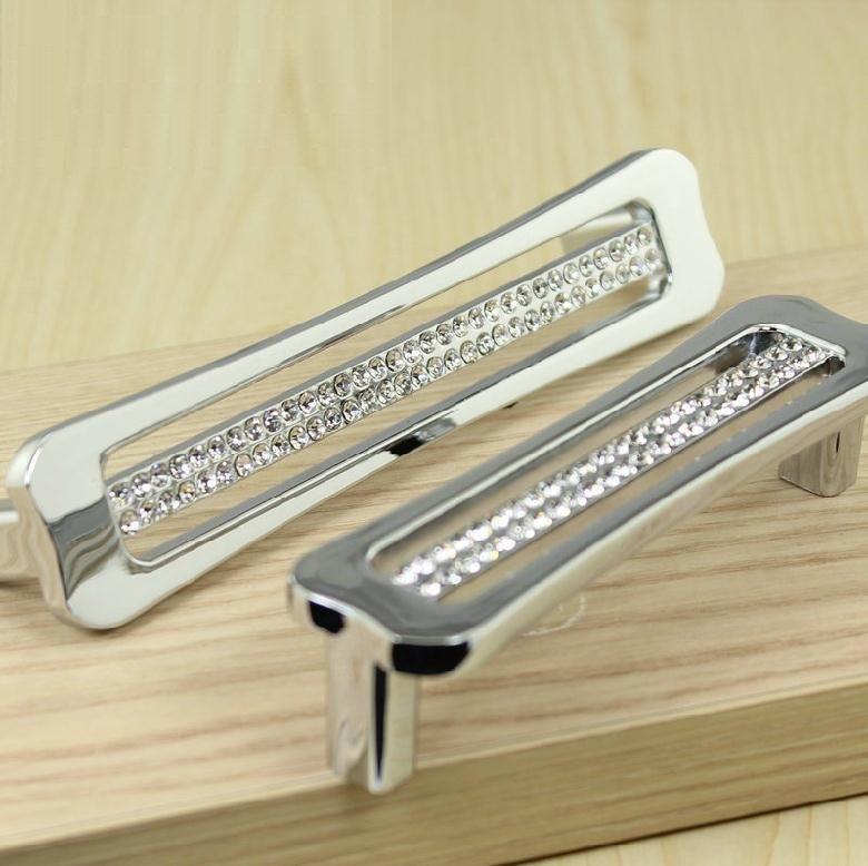 Glass Kitchen Cabinet Door Handles: Glass Dresser Pulls Handles Drawer Pulls Handles Crystal