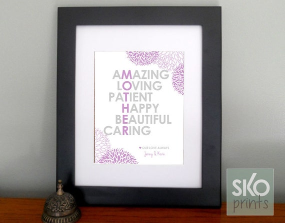 Special Gift For Mom On Wedding Day : Personalized Gift for Mom Gifts for Mothers Day Gift or Mom Birthday ...