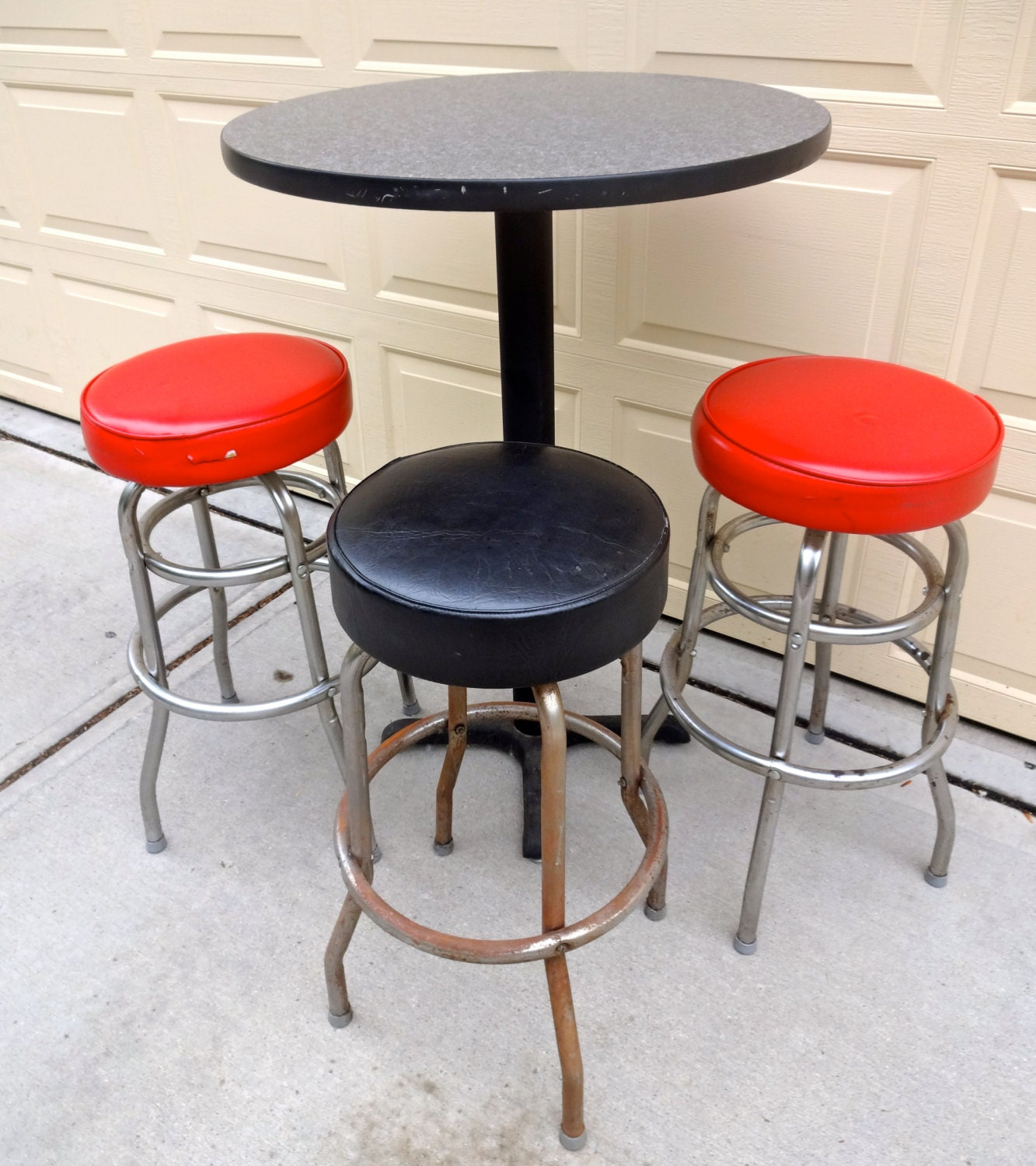 Vintage Red and Black Vinyl Swivel Bar Stools and Table  : ilfullxfull788260242odhw from hautejuice.wordpress.com size 1333 x 1500 jpeg 368kB