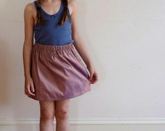 Beautiful silk skirt for girls size 4 to 16 - Handmade, French children's clothing