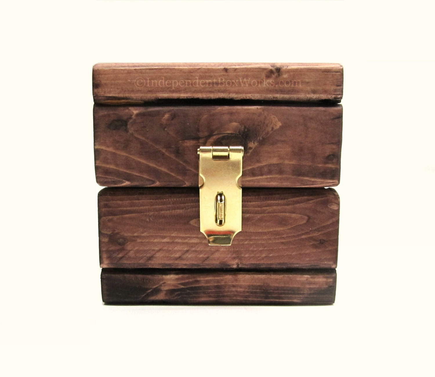 miniature wooden storage cube with lid by independentboxworks. Black Bedroom Furniture Sets. Home Design Ideas