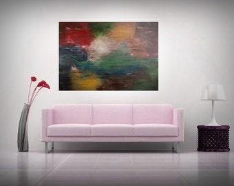 "Large Abstract paiting - ""Galaxy"" - (70x100cm) by Roxana Patricia Nita"