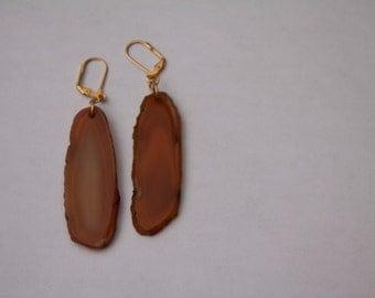 Natural Agate Earrings