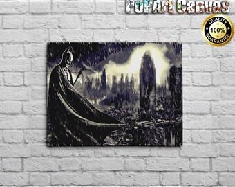 FREE SHIPPING: Batman Apocalypse Canvas Art