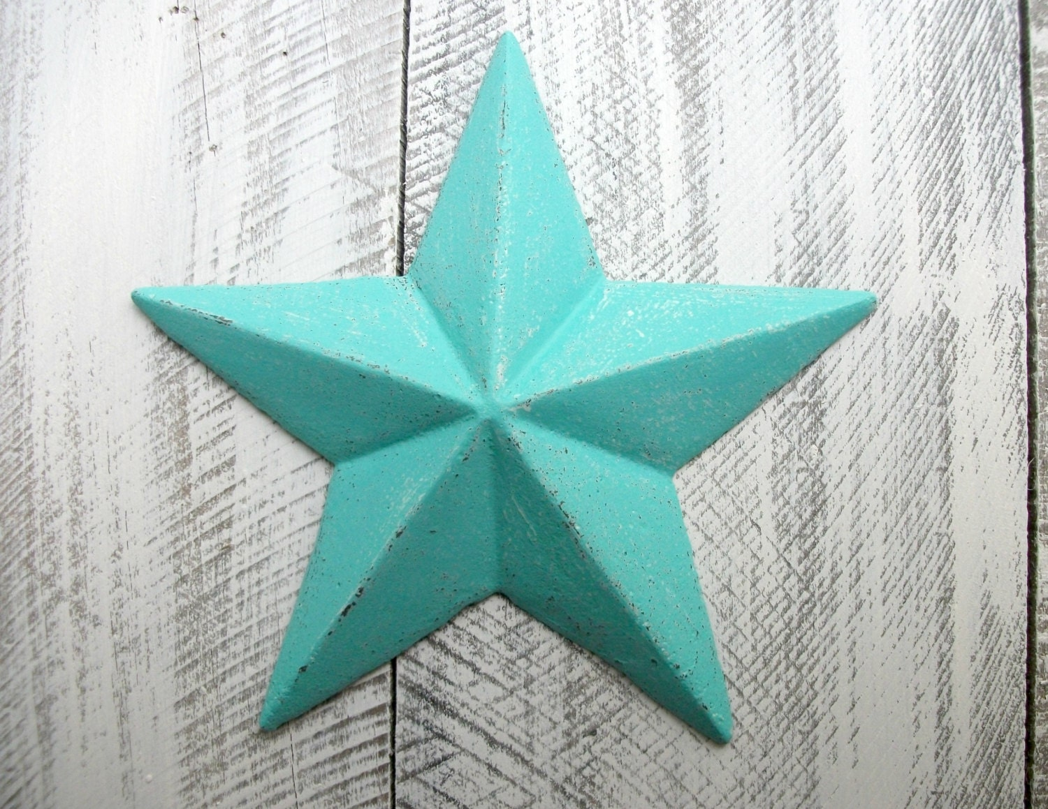 Star Wall Decor Ideas: Bright Teal Cast Iron Star Wall Decor Blue Indoor Outdoor