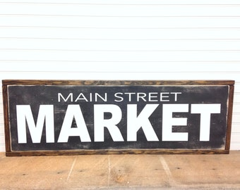 Main Street Market | Fixer Upper Sign | Wall Decor | 32 x 11