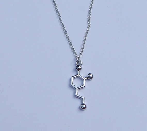 Dopamine Molecule Necklace: Dopamine Necklace DNA Necklace Dopamine By VetroJewelryDesigns