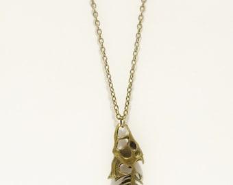 Items similar to made to order fish skeleton necklace by for Fish skeleton necklace