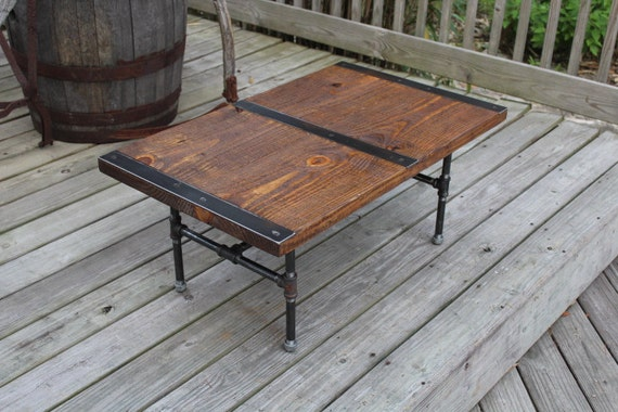 Pipe leg Coffee Table Industrial Coffee Table Reclaimed