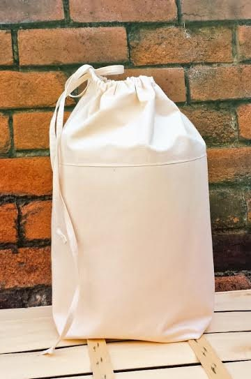 Denim Canvas Laundry Bag Extra Sturdy Luxury By