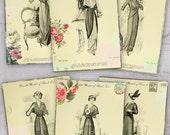 75% OFF SALE Vintage Models atc cards - Digital Collage Sheet Printable download Gift tags digital image cardmaking tags card vintage card