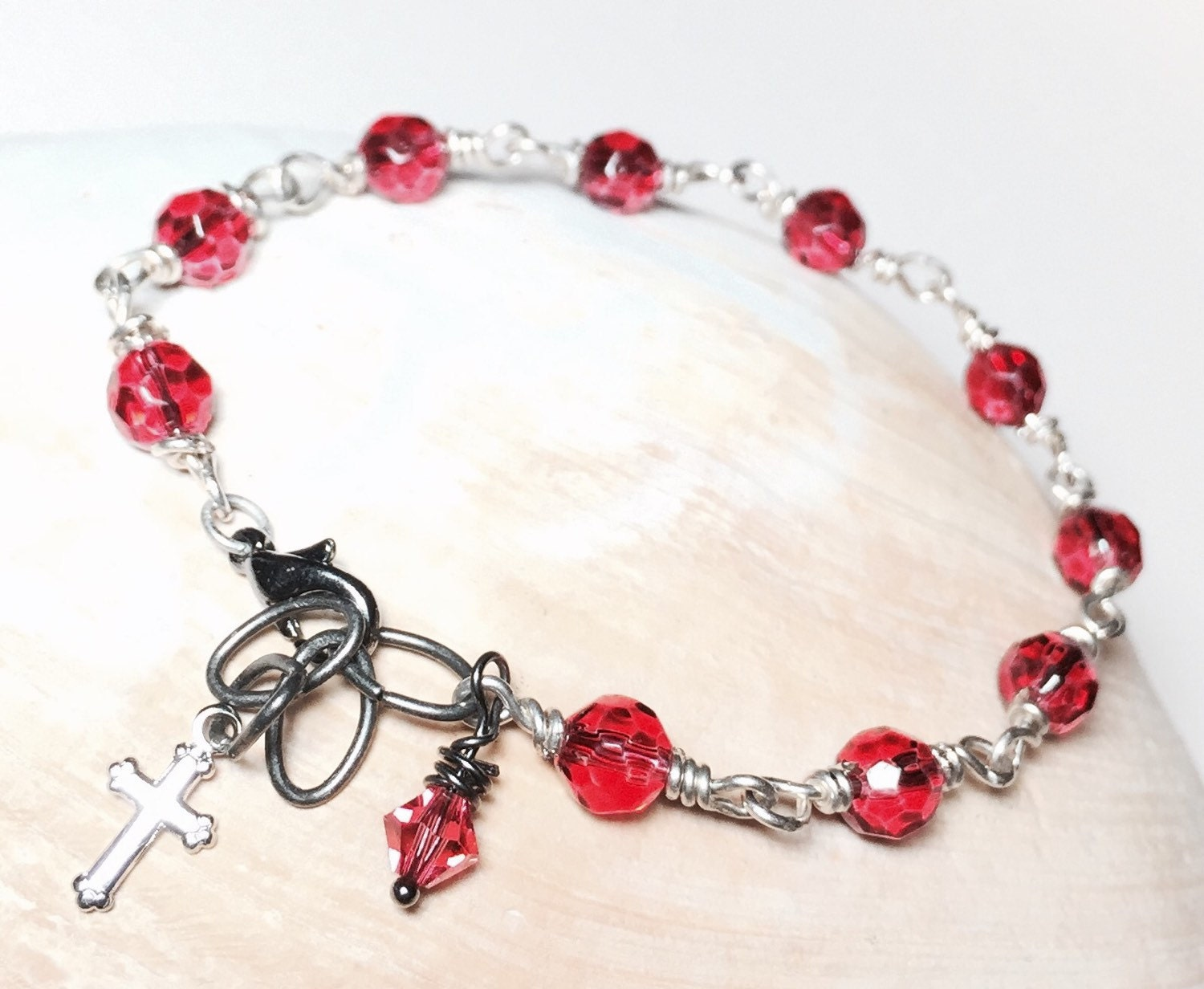rosary bracelet rosary bead bracelet for by crushedcameo