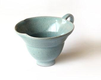 Celadon flower coffee cup, coffee mug