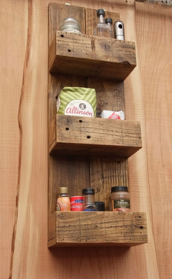 tall rustic kitchen bathroom storage shelves made from