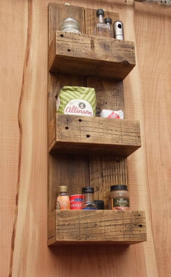 Tall rustic kitchen bathroom storage shelves made from for Rustic wood bathroom shelves